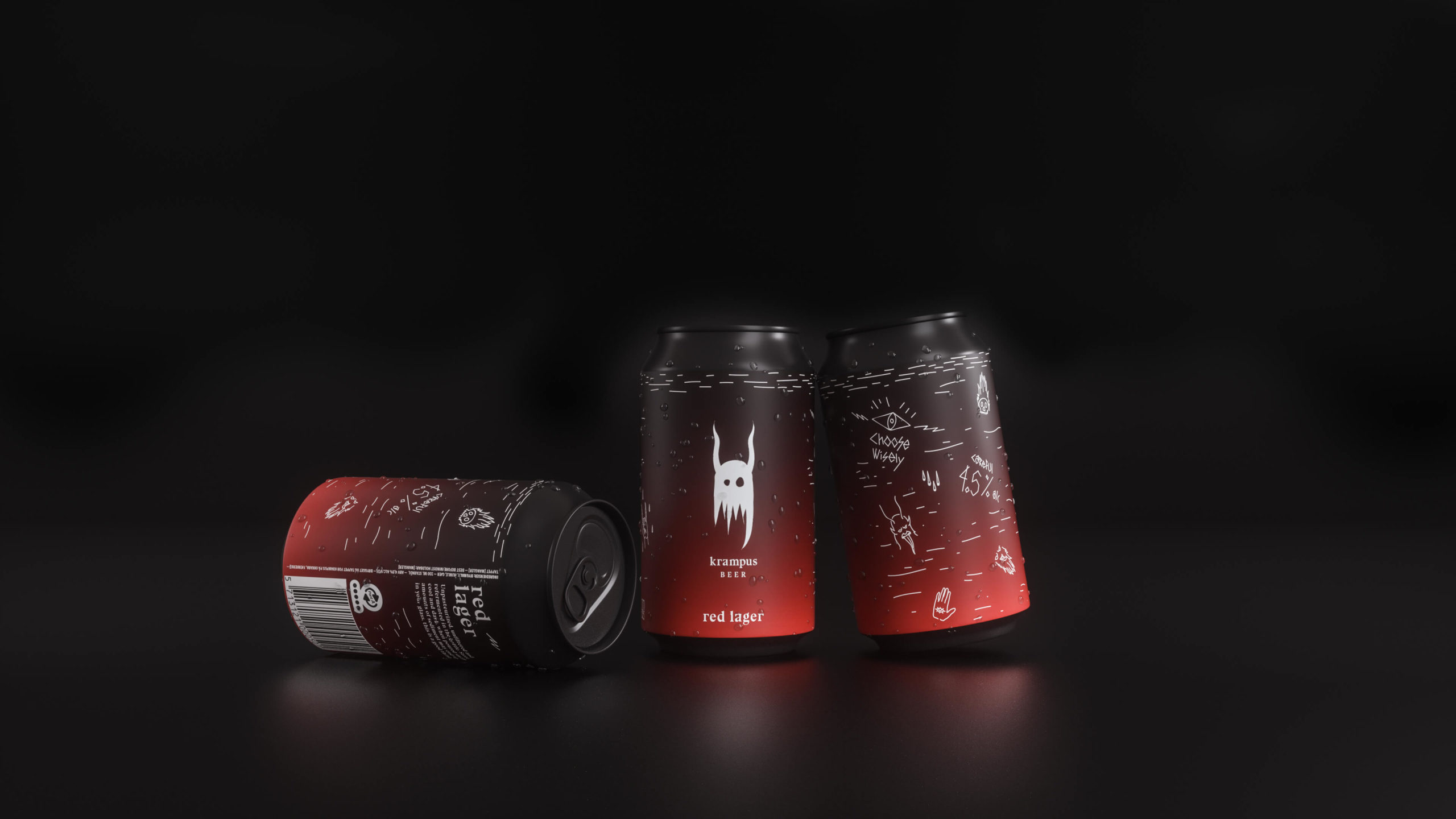 Beer Package design, 33cl, Red Lager