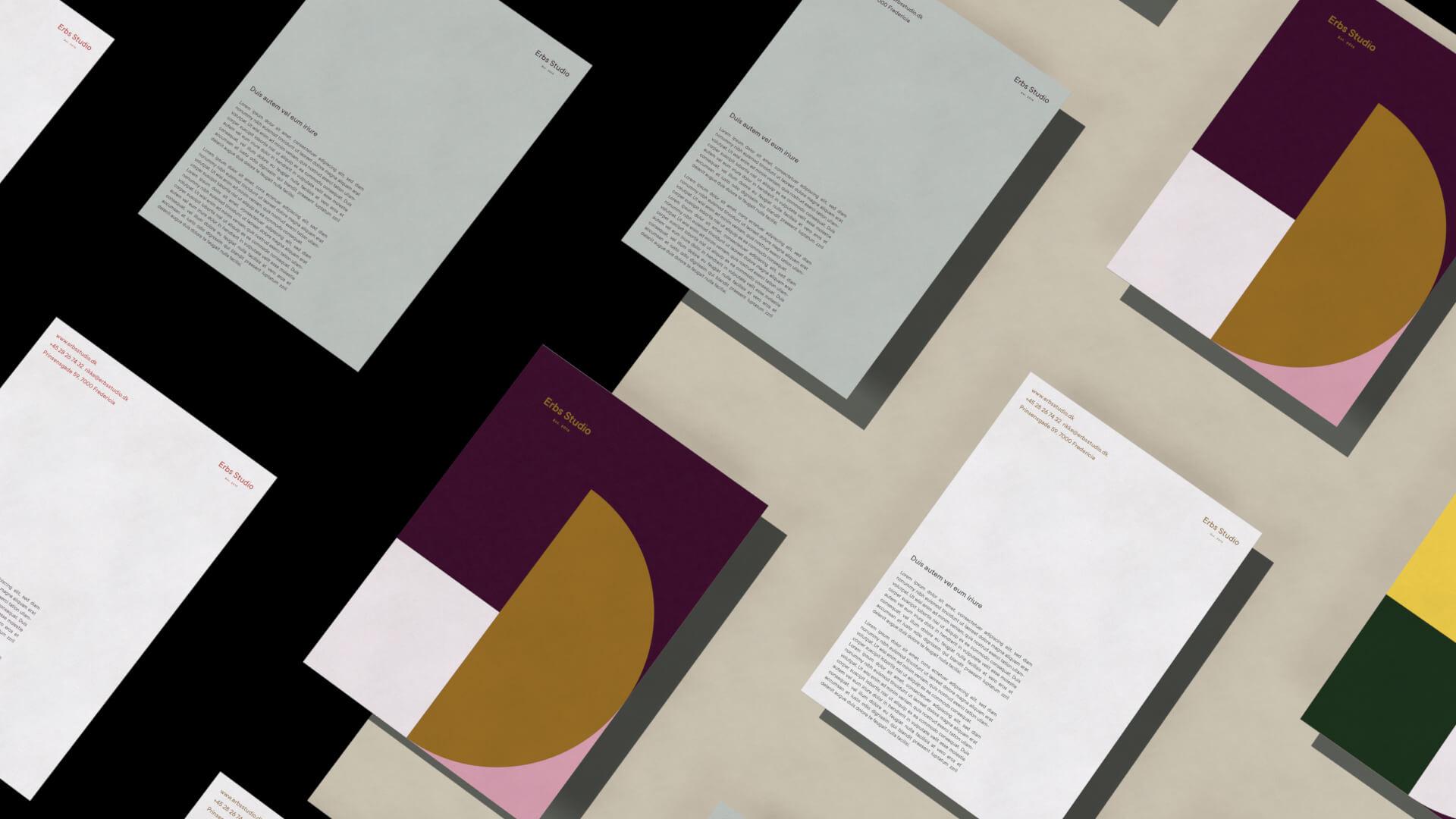 Erbs Studio Visuel Identitet Print Brevpapir 3