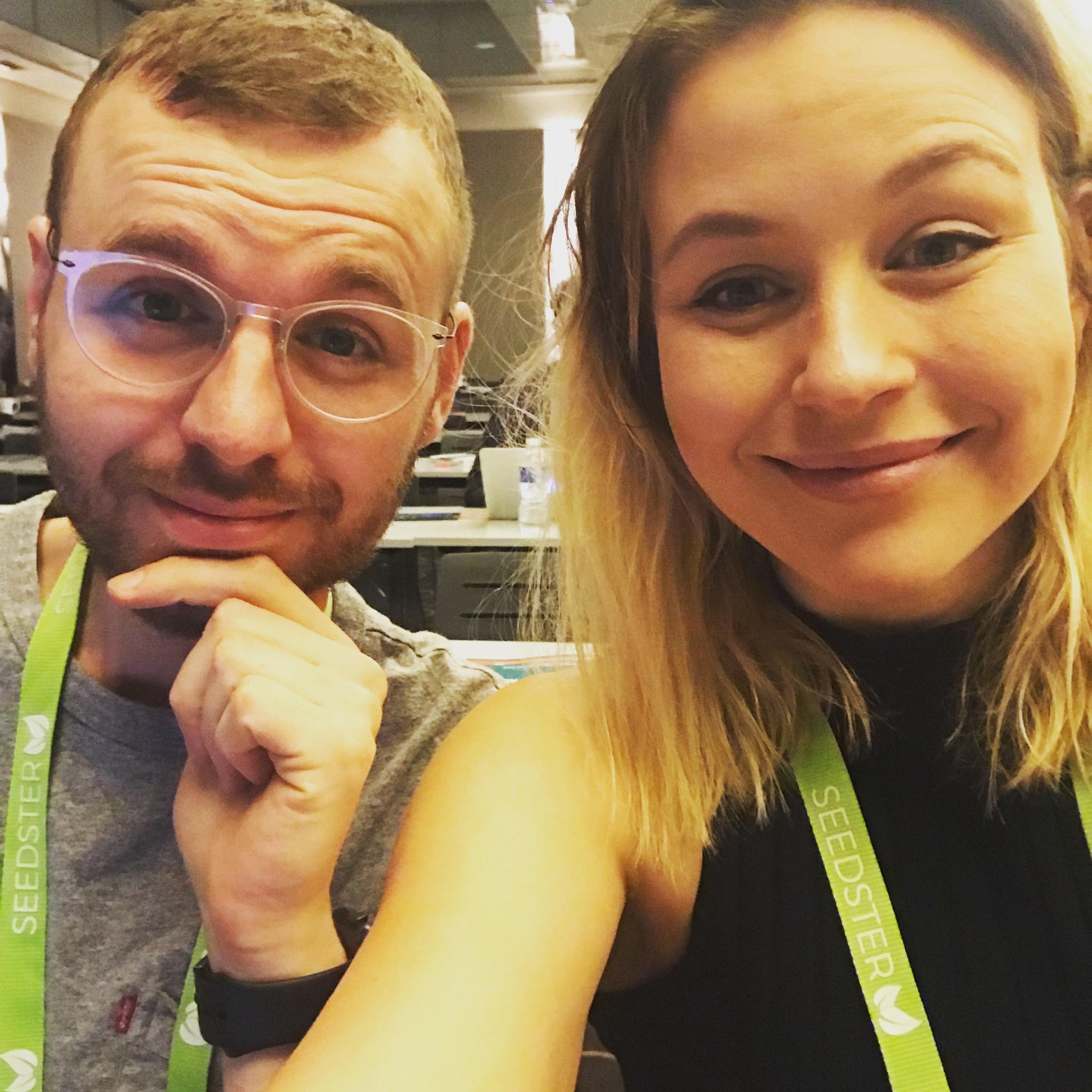 Anders og Anja på konference